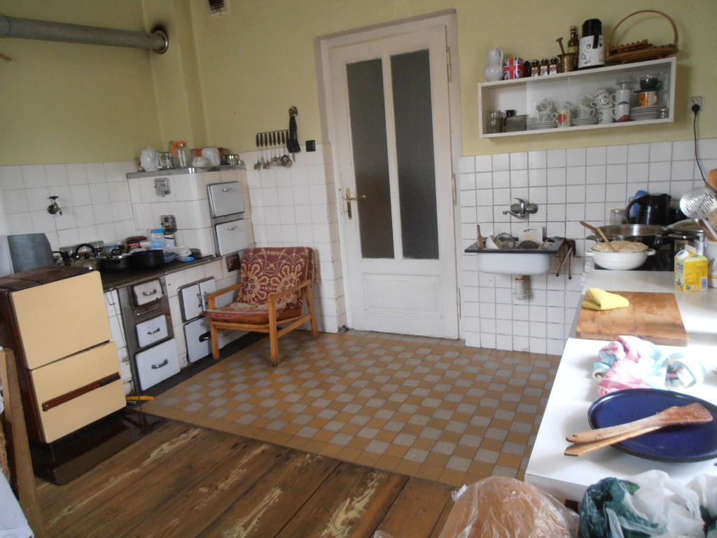 Half of Alena's farmhouse kitchen